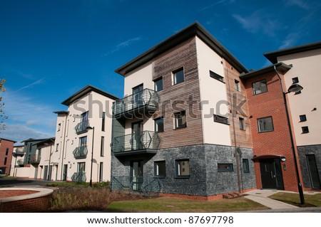 Modern new housing , England - stock photo