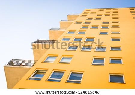 modern new plattenbau - nice background - stock photo