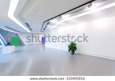 modern office building corridor  - stock photo