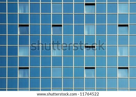 Modern office building - glass facade fragment - stock photo