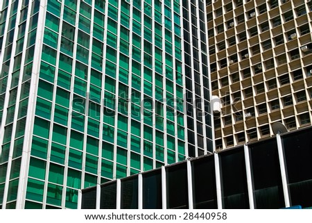 Modern office building glass facade in Sao Paolo, Brasil
