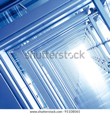 modern office building interior - stock photo
