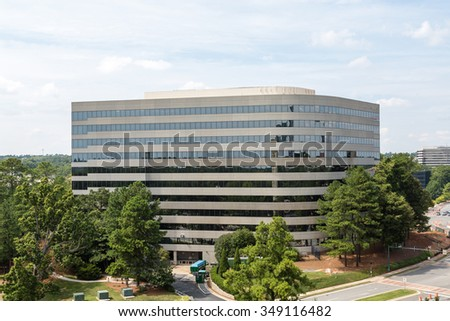Modern Office Building Rising into the sky - stock photo