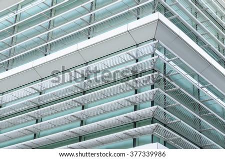 Modern Office building windows background - stock photo