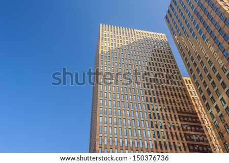 Modern office buildings in Amsterdam Netherlands - stock photo