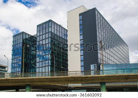 Modern office business building in Stockholm, Sweden - stock photo