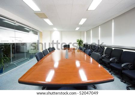 Modern office interior Boardroom - stock photo