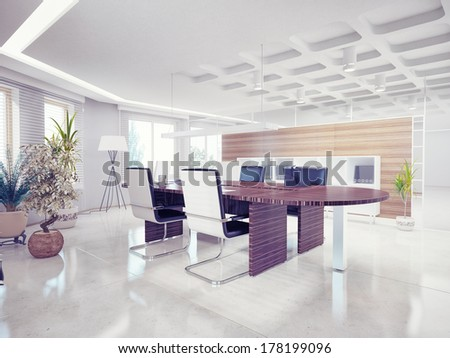 Modern office interior design stock illustration 176645993 for Modern office design concepts