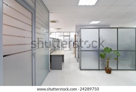 Modern office interior, hall - stock photo