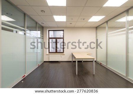 Modern office room renovated unfurnished - stock photo