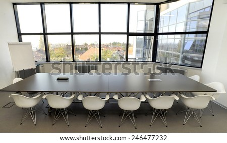 Modern office space - stock photo