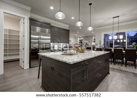 Dark Grey Modern Kitchen modern kitchen stock images, royalty-free images & vectors