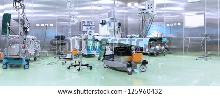 Modern operating room with advanced equipment - stock photo