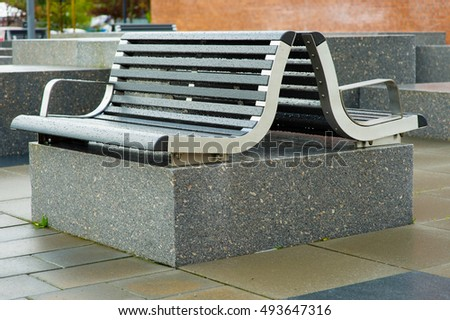Modern Outside Public Seating Area