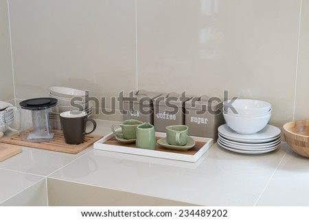 modern pantry with utensil in kitchen