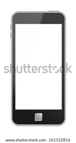 Modern phone gray case  isolation white background
