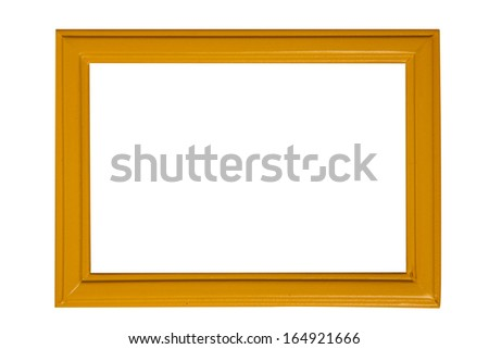 Modern picture frame isolated on white background - stock photo