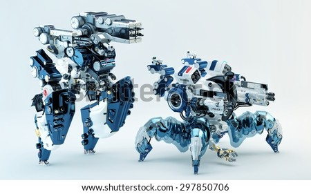 Modern police officer units - stock photo