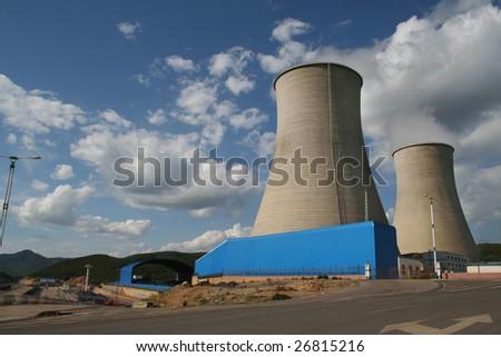 Modern power plants - stock photo