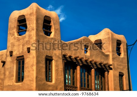 Modern Pueblo and Adobe style arhitecture is quite popular in today's Santa Fe, which pays homeage to the past and the traditions of  the city