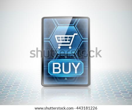 Modern purchase (3D illustration) - stock photo