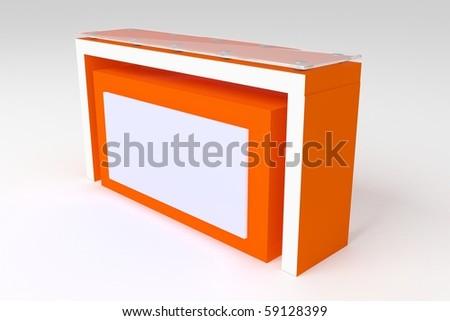 Modern reception desk - stock photo
