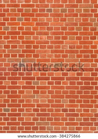 Modern red brick wall close up. - stock photo