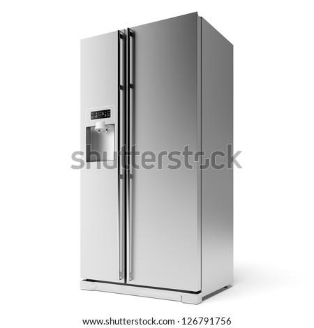 Modern Refrigerator - stock photo