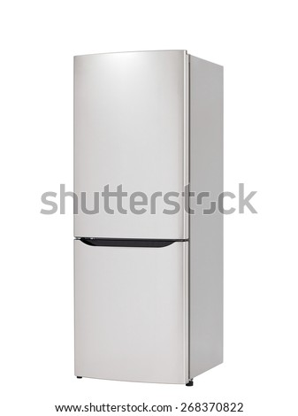 modern white refrigerator. modern refrigerator isolated on white background d