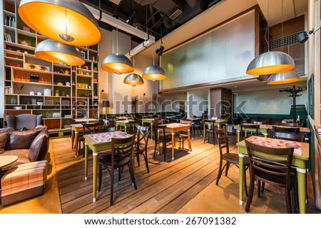 Modern restaurant  - stock photo
