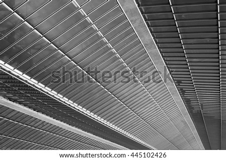 modern roof construction - stock photo