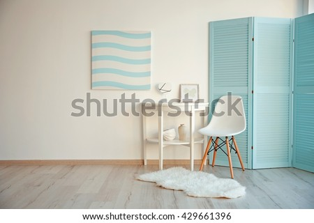 Modern room design interior - stock photo