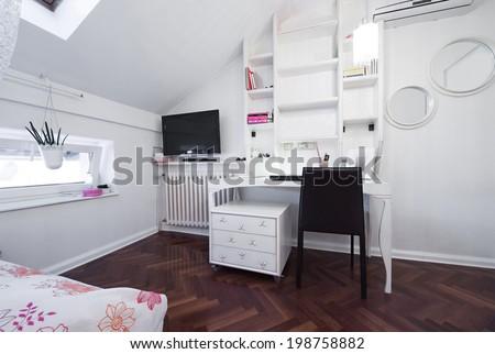 Modern room in loft apartment  - stock photo