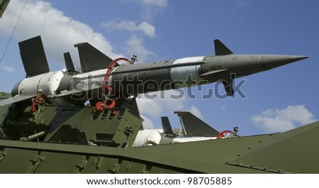 Modern Russian anti-aircraft missiles  5V27DE against the sky