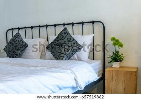 Modern Rustic Bedroom Artificial Flower Vase Stock Photo 657519862 ...