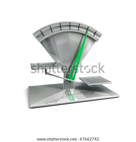 Modern scale. 3d render - stock photo