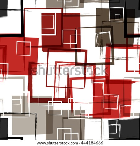 Modern Seamless pattern. Grunge texture. Squares. illustration. Abstract geometric shapes.