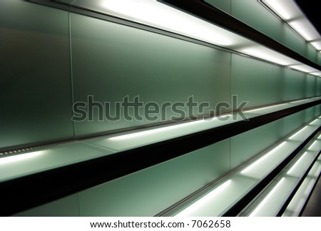 Modern shelves - stock photo