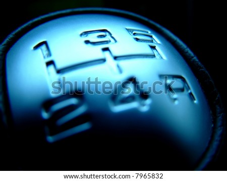 Modern Shift Gearbox - speed concept - stock photo