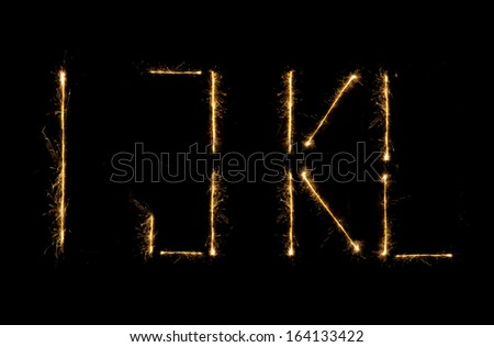 Modern Shiny alphabet isolated on black. (see other letters in my portfolio) - stock photo