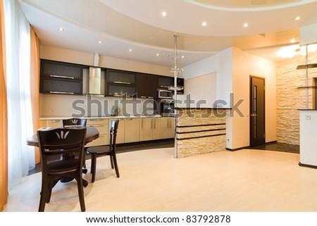 Modern simple kitchen - stock photo