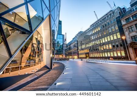 Modern skyline of London City. - stock photo