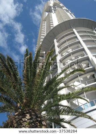 Modern skyscraper at Gold Coast downtown - stock photo