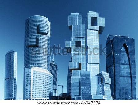 modern skyscrapers - stock photo