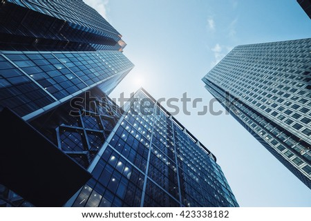 Modern skyscrapers in the city