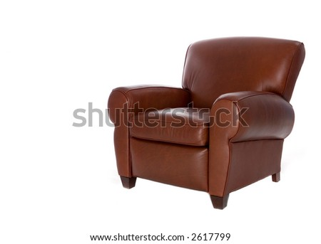 Modern sleek leather recliner chair. Isolated on white background.  sc 1 st  Shutterstock & Leather Recliner Stock Images Royalty-Free Images u0026 Vectors ... islam-shia.org