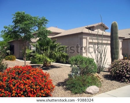 Modern Small New Home - stock photo