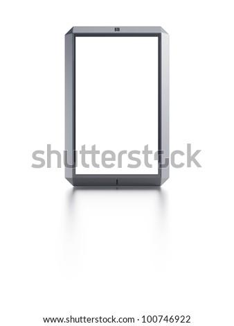 modern smartphone with blank screen - stock photo