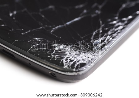 spider web screen crack on phone
