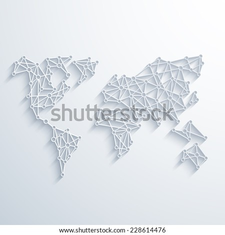 modern social network background - stock photo
